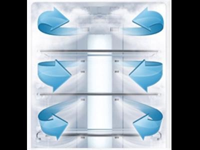 سیستم گردش هوای داخلی AIR FLOW در یخچال